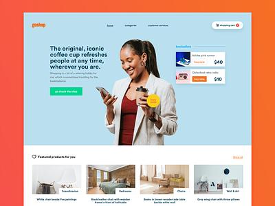 Goshop e-commerce design branding hero interface ui kit design modern user interface clean ui web