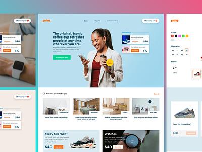 Goshop Ecommerce Template interface ui kit web design modern user interface clean ui webdesign web design