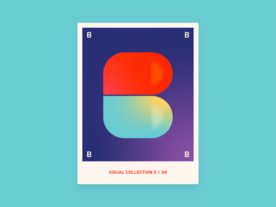 Alphabet challenge - B graphic design graphic design