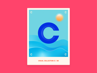 Alphabet challenge - C at Sea graphic design graphic challenge letter water sea design c