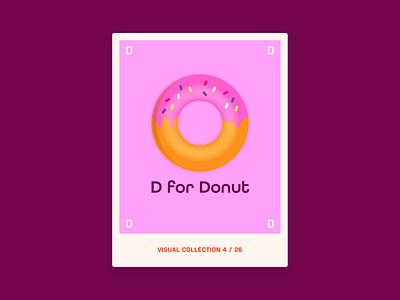 Alphabet challenge - D for Donut illustration design graphic design graphic donuts cake cookie donut