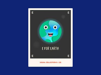 Alphabet challenge - E for Earth graphic design graphic graphics challenge alphabet globe earth