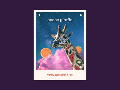 Alphabet challenge - G   Giraffes in space are different digital digital art graphic design graphic giraffe