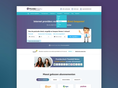 Comparing internet providers branding user interface clean webdesign web ui design