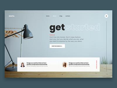 Get started. personal ux app typography psd portfolio hero illustration ui kit web design website photoshop kit modern user interface clean ui web webdesign design