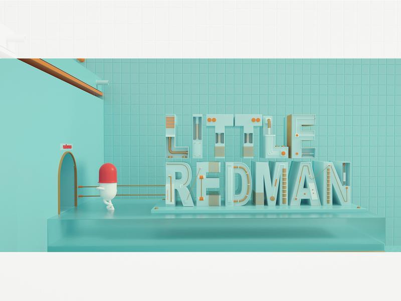 LITTLE REDMAN ip 卡通 color illustration