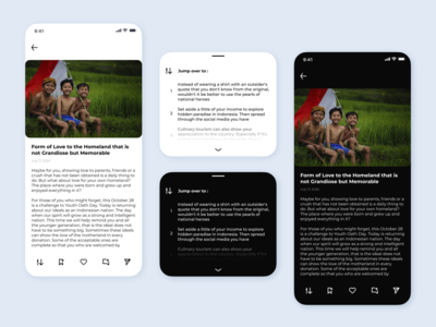 Simple Article App (Light and Dark) clean ui simple design reading app reading write dark ui light ui dark app dark light simple article app