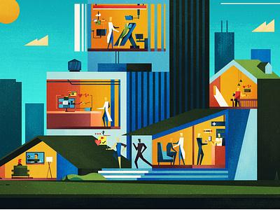 The Future of Health? editorial illustration