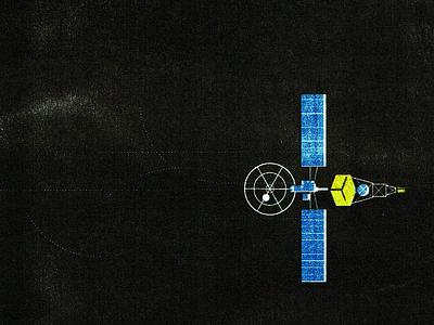Mariner 2 - Riso illustration