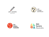 Some recent logo concepts for Art Lovers Australia