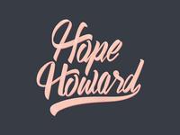 Hope Howard Script Logo