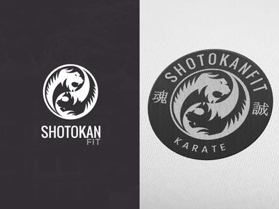 ShotokanFit logo and emblem design yinyan clean simple bw tiger karate fitness emblem brand branding design logo