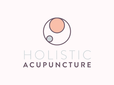 Holistic Acupuncture Logo clean simple artdirection fertility maternity acupuncture holistic logotype brand branding logo