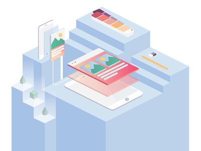 Design Illustration web design development design illustration 3d