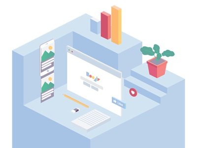 SEO Illustration web development illustration development seo 3d