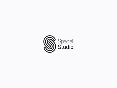 Spacial Studios Logo minimal simple graphic design typography design branding logo