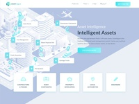 Isometric Illustration & Homepage For Assetlogue