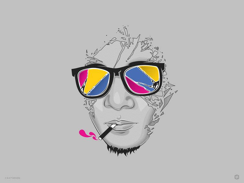 Selfportrait 2012 self-portrait graphic design illustration design artwork art