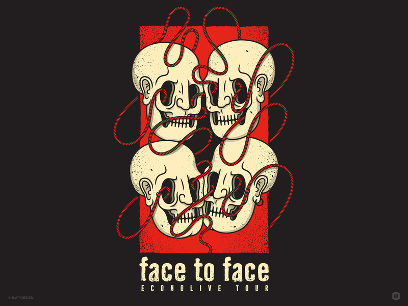 Face to Face contest band poster band poster design illustration digital illustration art graphic design artwork