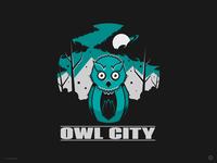 Owl City poster illustration digital illustration graphic design art artwork design