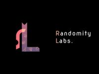 Logo for Randomity Labs rj illustration design vector typography logo