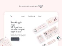 mewt : Indian banking app skeuomorph neumorph typography web ui website minimal rj logo branding ux design banking