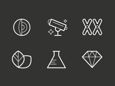 Carnegie Icons icon illustration vector svg science
