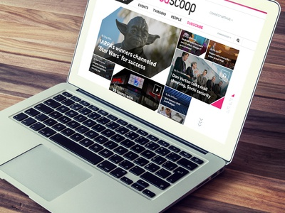 FS Homepage news media grid homepage website editorial design government web