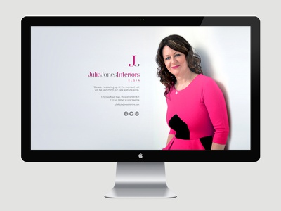 Julie Jones Holding Page website branding