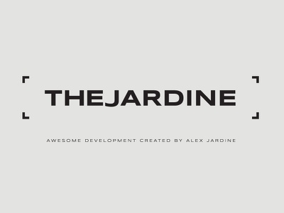 The Jardine branding logo typography