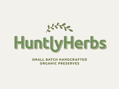 Huntly Herbs Brand brand logo identity