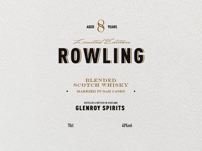 Rowling Label label design spirits