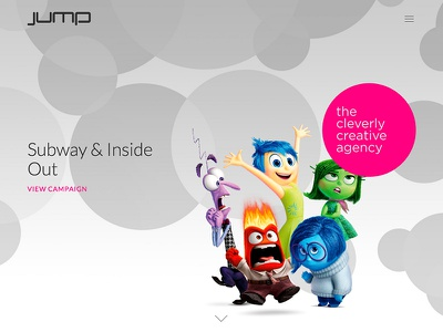 Jump Website pixar disney insideout subway agancy parallax responsive website