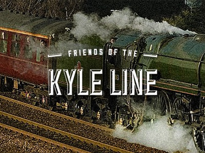 Friends of the Kyle Line brand logo design creative