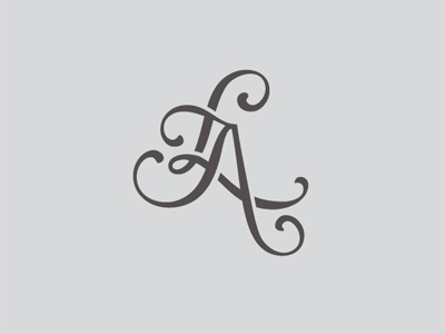 LA Brand brand logo design creative wedding typography