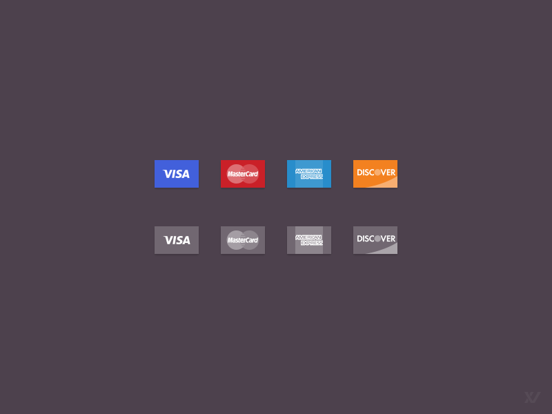 Credit card icons  vector psd  by vilen