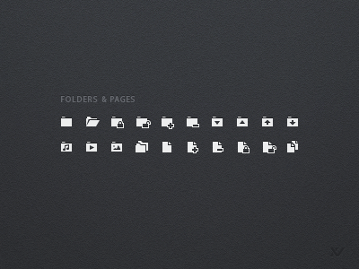 Folders And Pages Iconset icons icon set mini ui micro pictograms