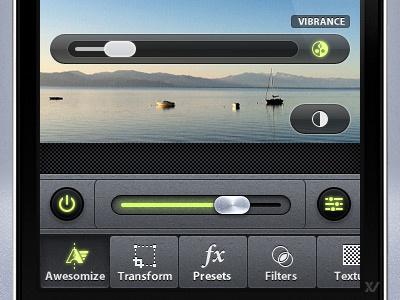 Camera Awesome - Awesomize Sliders ios app editing iphone awesome enhance slider