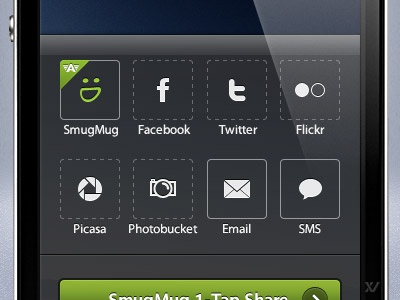 Camera Awesome - Share Actionsheet iphone app ios share icons actionsheet awesome touch mobile