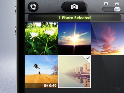 Camera Awesome - Library ios iphone app camera thumbs grid awesome lcd mobile