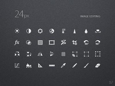 24px Iconset for Image Editing icons iconset icon set editing image tools