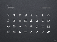 24px Iconset for Image Editing