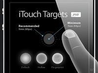 iTouch Targets - FREE PSD