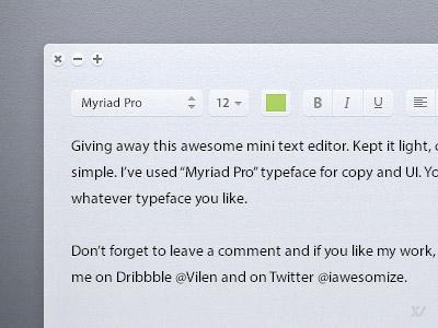Light text editor by vilen