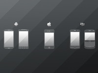 Mobile device icons by vilen %28preview%29