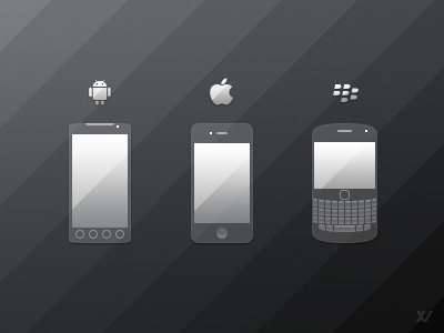 Mobile Phone Icons - FREE PSD mobile phone icons iphone android blackberry