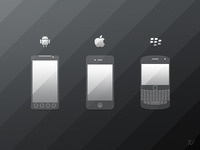 Mobile Phone Icons - FREE PSD