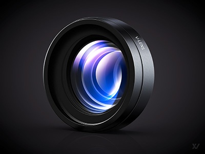 V-Lens Lens Icon glass lenses lens icon reflection app mac camera