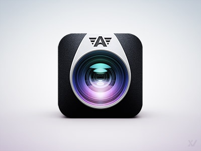 Camera Awesome App Icon II ios icon app camera lens flare render cinema 4d awesome