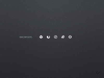 Browser icons by vilen